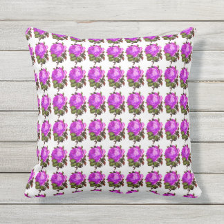 French_Spring_Floral_Violet-Rose_Pillow Sets Throw Pillow