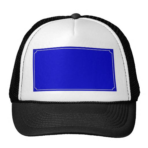 French Street Sign Template Mesh Hats