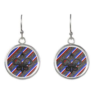 French stripes flag earrings