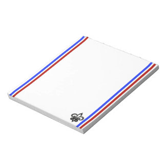 French stripes flag notepad
