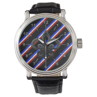 French stripes flag watch