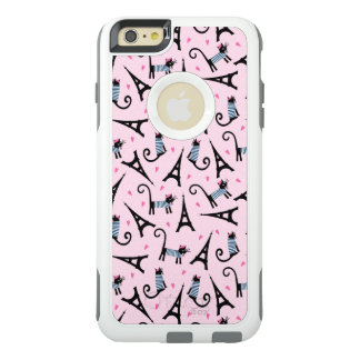 French Style Dressed Cat With Eiffel Tower Pattern OtterBox iPhone 6/6s Plus Case