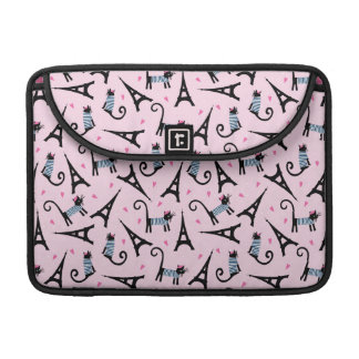 French Style Dressed Cat With Eiffel Tower Pattern Sleeve For MacBook Pro