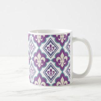 French Style Fleur de Lis Pattern Basic White Mug