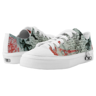 """French Style"" Zipz Slip-On Low Top Shoes, Women Printed Shoes"
