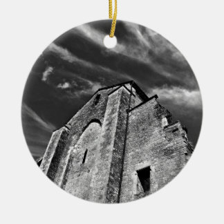 French the Middle Ages kisses the darkness skies Ceramic Ornament