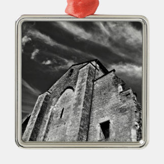French the Middle Ages kisses the darkness skies Metal Ornament