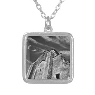 French the Middle Ages kisses the darkness skies Silver Plated Necklace