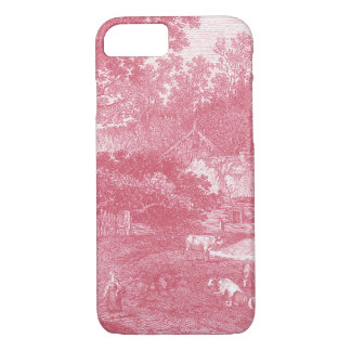 French Toile de Jouy Shabby Counry Landscape iPhone 8/7 Case