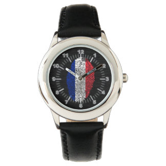 French touch fingerprint flag watch