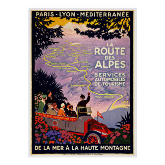 French Tour Map - Vintage Travel Posters