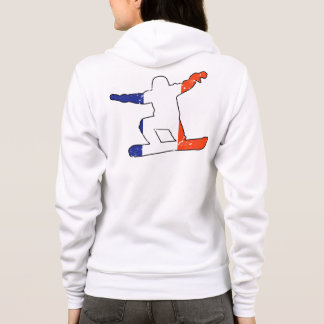 French Tricolor SNOWBOARDER (blk) Hoodie