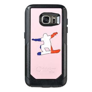French Tricolor SNOWBOARDER (blk) OtterBox Samsung Galaxy S7 Case