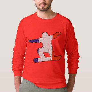 French Tricolor SNOWBOARDER (blk) Sweatshirt