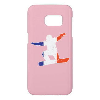 French Tricolor SNOWBOARDER (wht)