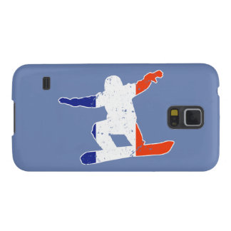 French Tricolor SNOWBOARDER (wht) Case For Galaxy S5