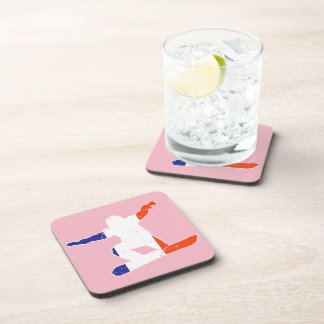 French Tricolor SNOWBOARDER (wht) Coaster