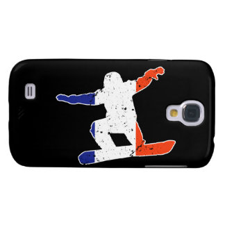 French Tricolor SNOWBOARDER (wht) Galaxy S4 Case