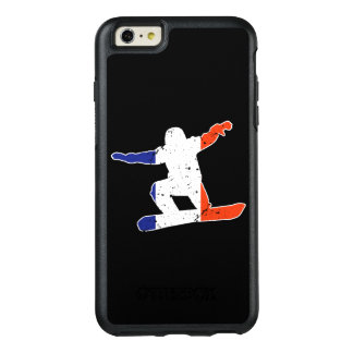 French Tricolor SNOWBOARDER (wht) OtterBox iPhone 6/6s Plus Case