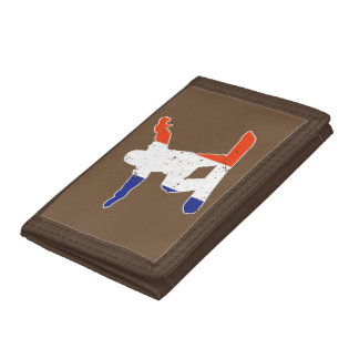 French Tricolor SNOWBOARDER (wht) Trifold Wallet