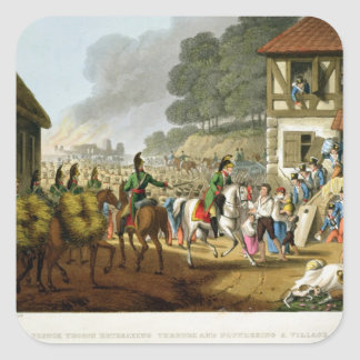 French Troops Retreating Through and Plundering a Square Stickers