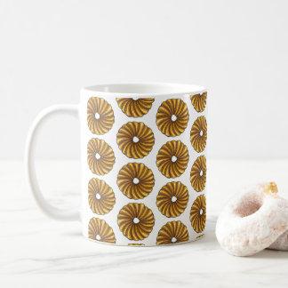 French Twist Glazed Breakfast Donut Doughnut Food Coffee Mug