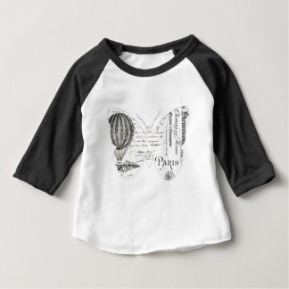 French Typography Butterfly Paris Design Baby T-Shirt