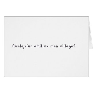 French-Village Card
