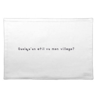 French-Village Place Mats