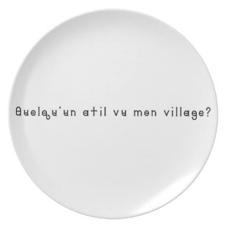 French-Village Plate