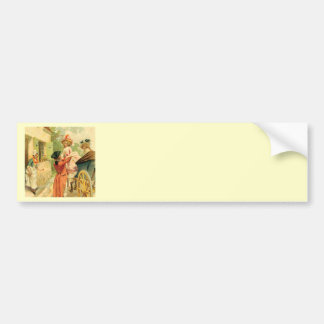 French Vintage Carriage 18th Century Bumper Sticker