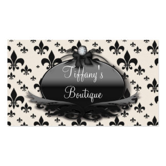French Vintage Damask Fashion Business Cards