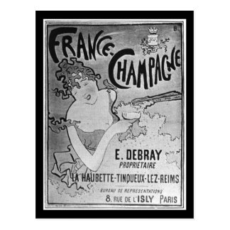 French vintage postcard champagne