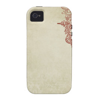 french vintage style stamp Case-Mate iPhone 4 cases