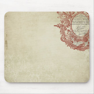 french vintage style stamp mousepads