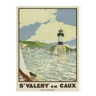 French Vintage Travel Postcard St Valery en Caux