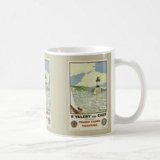 French Vintage Travel Poster St Valery en Caux Coffee Mug