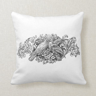 french vintage typography shabby chic cushion Love