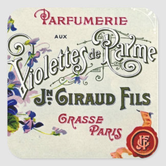 French Violette Perfume Label