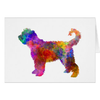 French Water Dog in watercolor Card