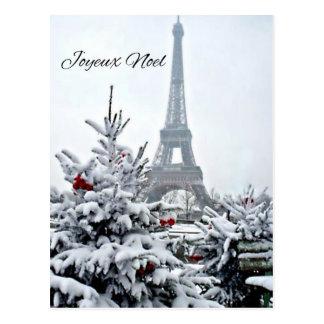 French White Christmas Postcard