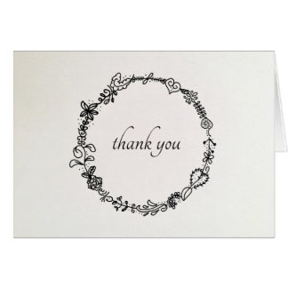 French Wreath Thank You Note Card