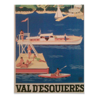 French Yacht Resort Poster