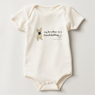 FrenchBulldogFawnBrother Baby Bodysuit