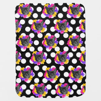 Frenchie and Pansy Dots Blanket