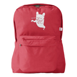 Frenchie Boo Boo Halloween Ghost Backpack