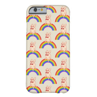 Frenchie celebrates Pride Month on LGBTQ rainbow Barely There iPhone 6 Case