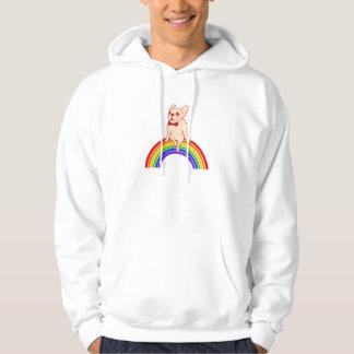 Frenchie celebrates Pride Month on LGBTQ rainbow Hoodie