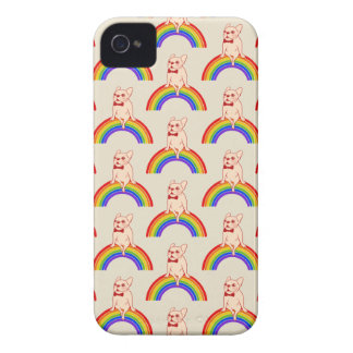 Frenchie celebrates Pride Month on LGBTQ rainbow iPhone 4 Case-Mate Cases
