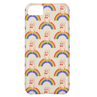 Frenchie celebrates Pride Month on LGBTQ rainbow iPhone 5C Case